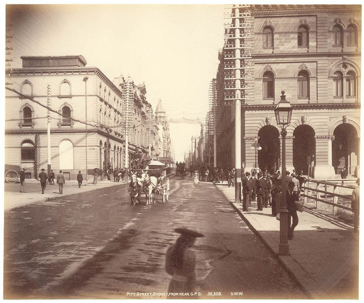 Pitt St Sydney from near GPO from Fred Hardie - Photographs for George Washington Wilson & Co., 1892-1893 | by State Library of New South Wales collection