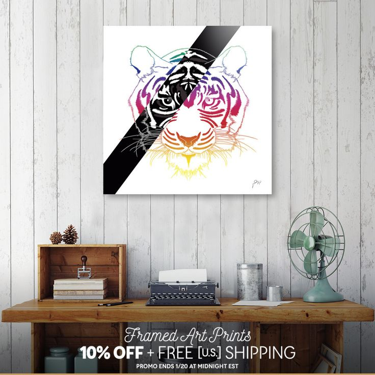 Discover «Tiger», Limited Edition Aluminum Print by Omar Gonzalez - From 95€ - Curioos