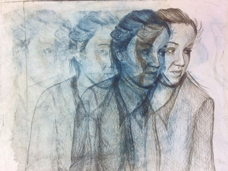 Teresa's overlapped etching print (from CNC - student work)