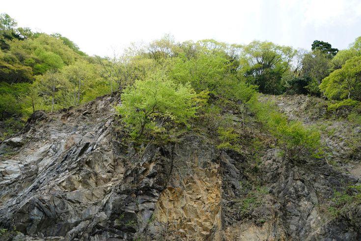 10feetphotogallery、ブログを更新しました。「葛川細川の崖」  #細川 #花折断層 #安曇川