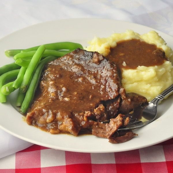 """Stewed Steak - Carol writes that her family regularly enjoys this great comfort food meal, calling it a, """"Great dish when you just want to put something in the oven and forget about it for a couple of hours."""""""
