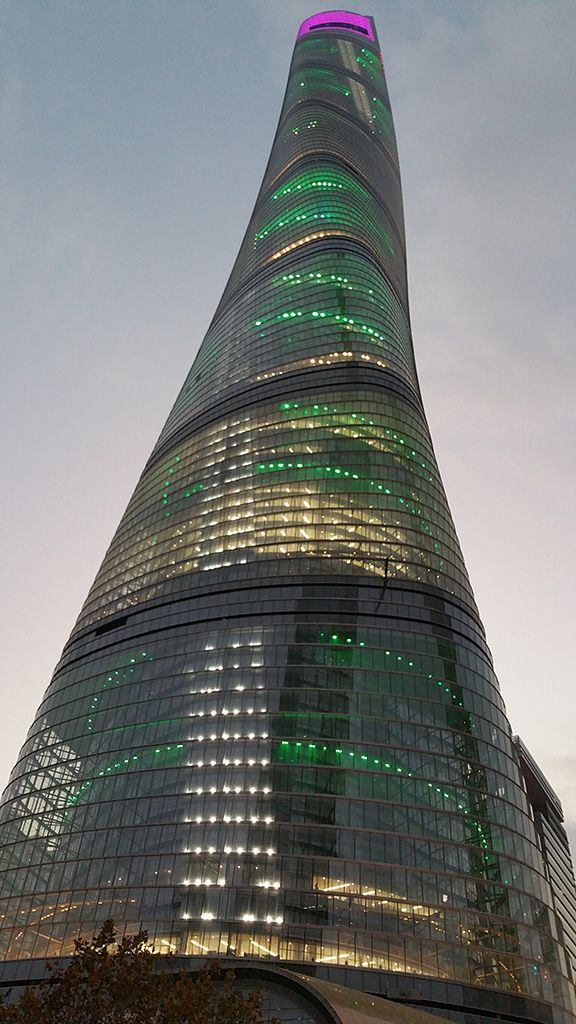 Shanghai Tower (632 m.), Shangai, China