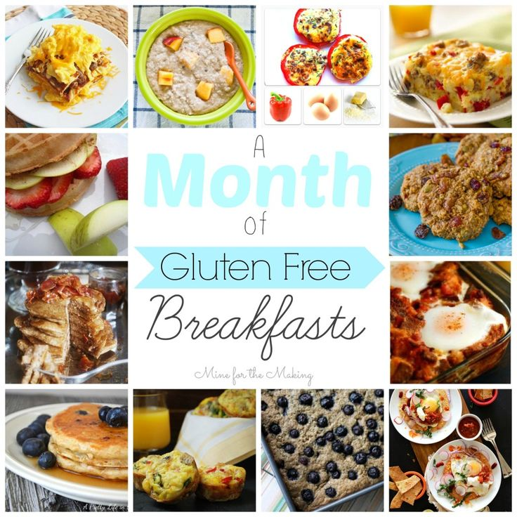 A Month of Gluten Free Breakfasts at Mine for the Making. Everything from eggs to donuts!