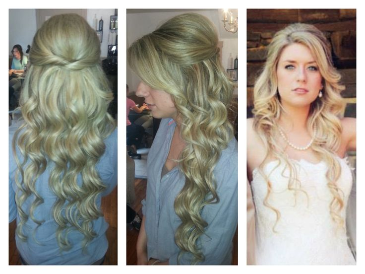 Bridal Hair Long Extensions Blonde Christina Childress