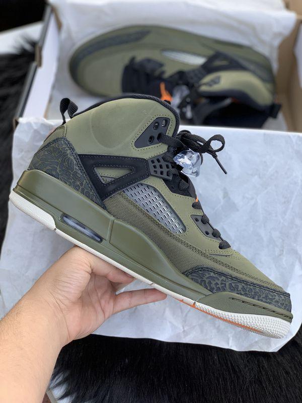 Mens Jordan Spizike Olive Green Size 10