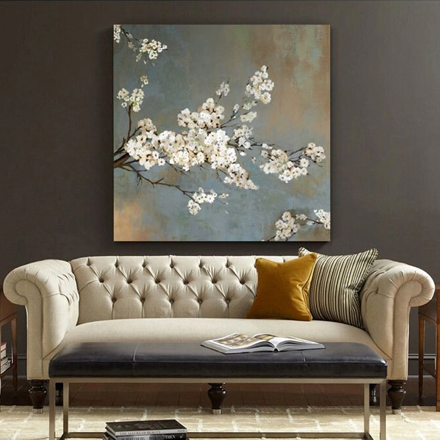 Decorative Pieces For Drawing Room Wall Canvas Flower Canvas Wall Art Tree Canvas