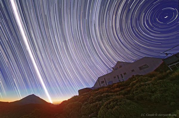 The spring equinox seen from the Canary Islands.