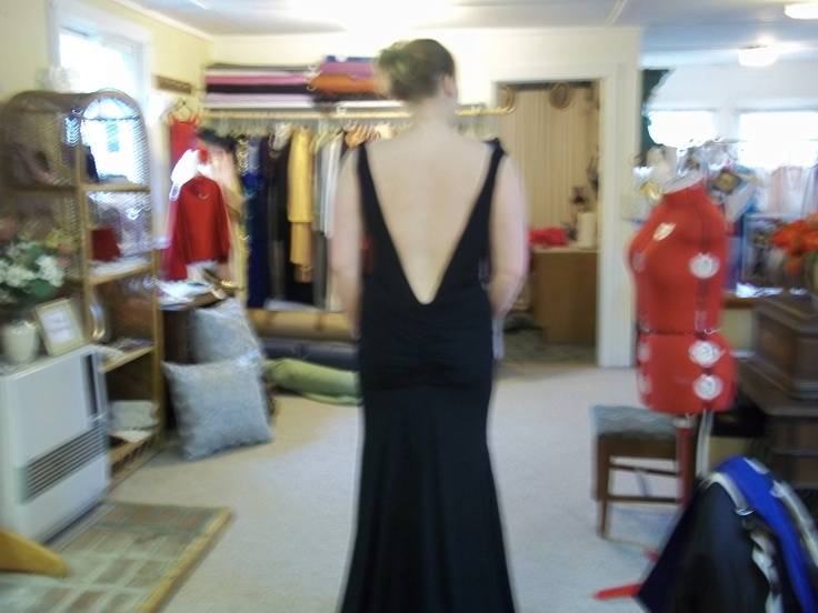 Kendall's prom gown! black matte jersey clinger!