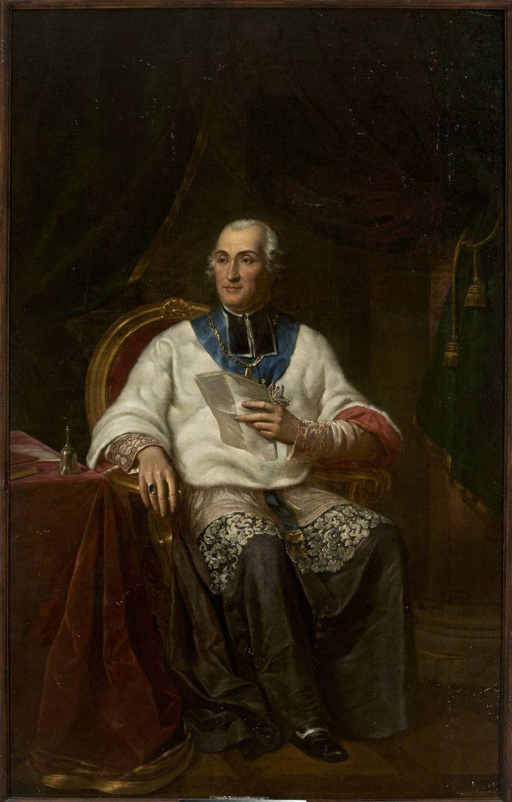 """Brodowski  Antoni (1784-1832) 🇵🇱🎨  """"Portret Ad. Krasińskiego , biskupa kamienieckiego"""",1823"""