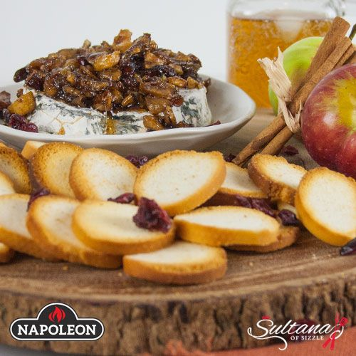 Autumn Baked Brie With Apples, Cinnamon, Pecans, and Cranberries