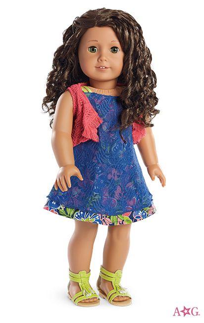 Fringe Vest for Dolls and Tropical Print Dress for Dolls