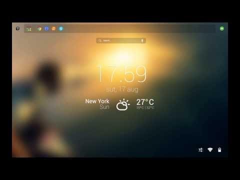 GoogleOS Concept - Start screen
