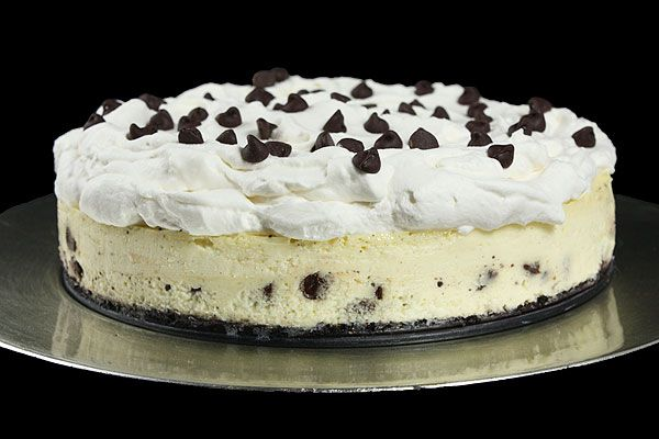 Vanilla Bean-Chocolate Chip Cheesecake with Oreo Cookie Crust