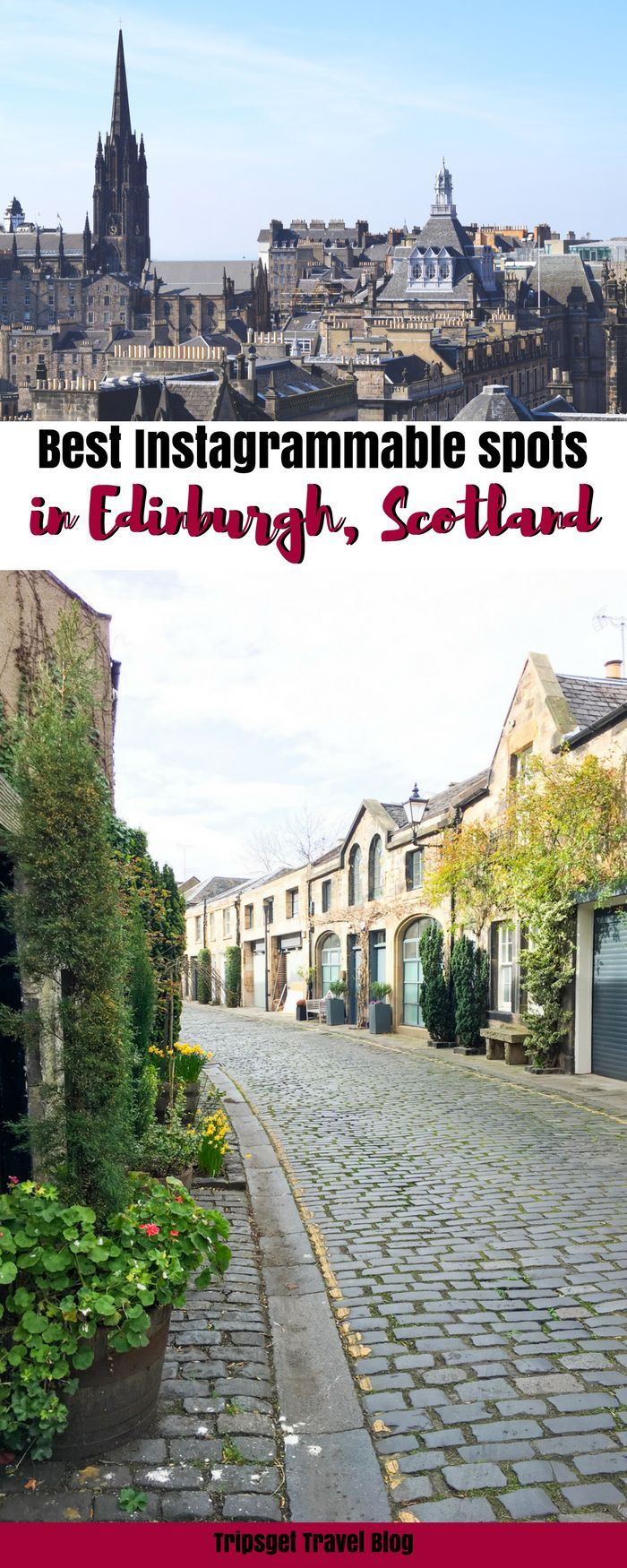 Looking for the best Instagrammable spots in Edinburgh, Scotland? You're in the right place, keep reading! Royal Mile, Calton Hill, Arthur's Seat, Edinburgh cute cafes, Edinburgh brunch spots, Instagrammable places in Scotland, UK, London, Cherry Blossom,