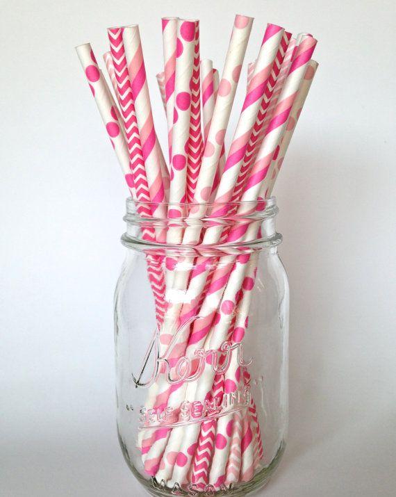 Est rose, sa couleur préférée ? Coordonner votre partie avec ces pailles joyeux framboise papier rose bubblegum. Laissez ces pailles POP votre