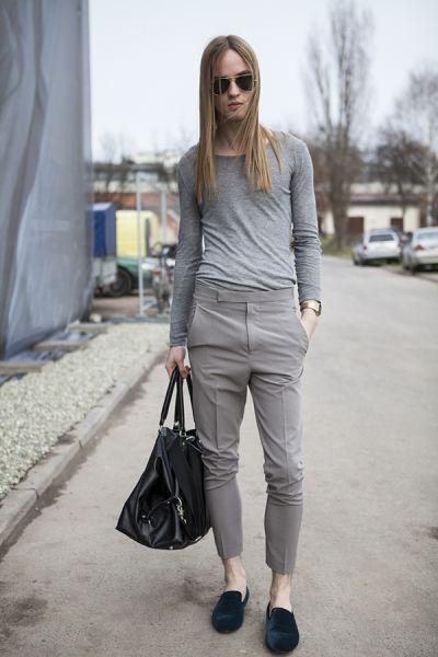 In grey