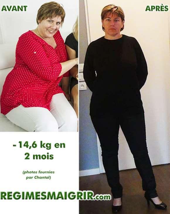 Chantal a perdu plus de 14 kilogrammes en 8 semaines grâce à un programme nutritionnel dédié