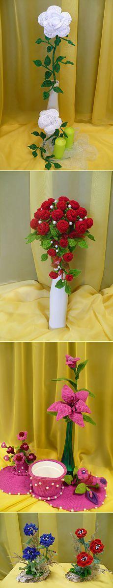 ЦВЕТЫ КРЮЧКОМ. Подборка для вдохновения [] #<br/> # #Crochet #Flower,<br/> # #Crochet<br/>