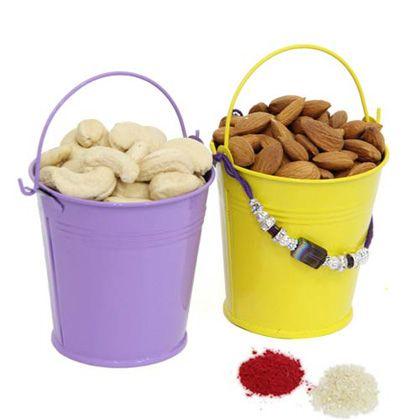 Dry fruits In Bucket International - Rakhi To Dubai