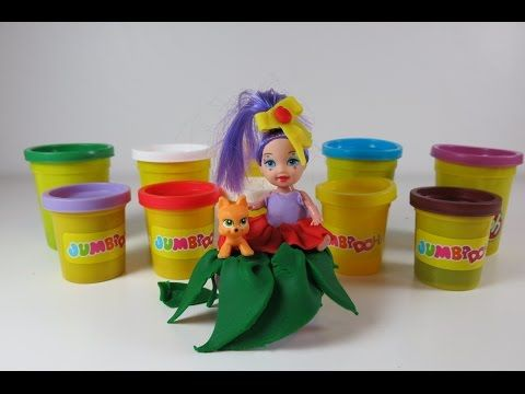 DIY Play Doh Dress for Hula Girl. Learn How to Make Clothes with Play Doh - YouTube