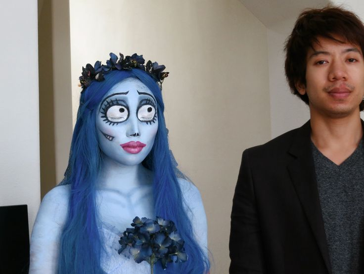 """This makeup tutorial was found on YouTube and shows the process of a makeup application from start to finish. The makeup artist applies makeup to herself to create the look of Emily from """"Corpse Bride"""". She uses only makeup and costume to complete her look without the use of a prosthetic."""
