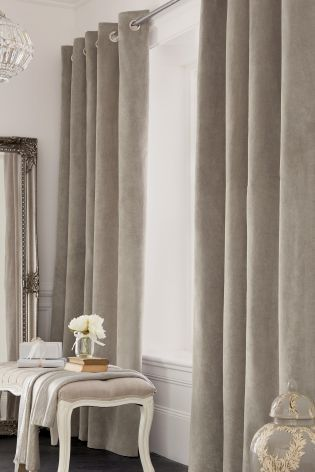 Buy Thermal Soft Velour Eyelet Curtains online today at Next: Netherlands