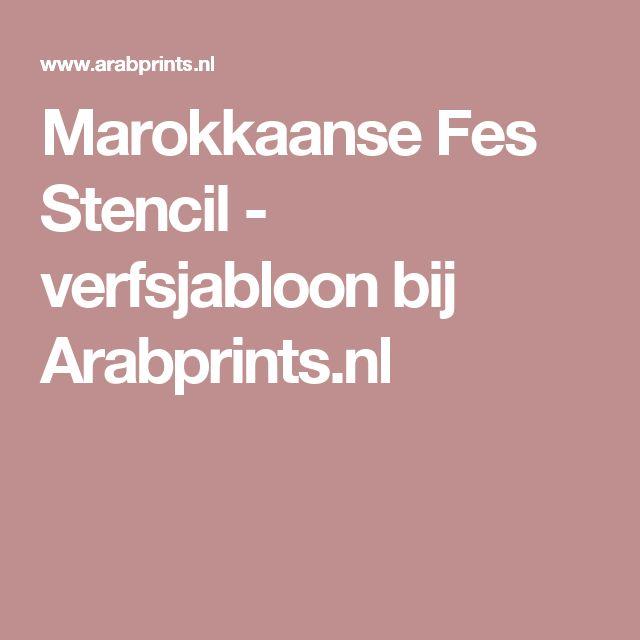 Marokkaanse Fes Stencil - verfsjabloon bij Arabprints.nl