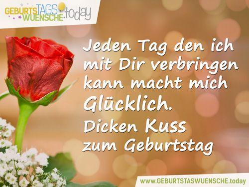Liebevolle Geburtstagswünsche – Dicken Kuss zum Geburtstag!