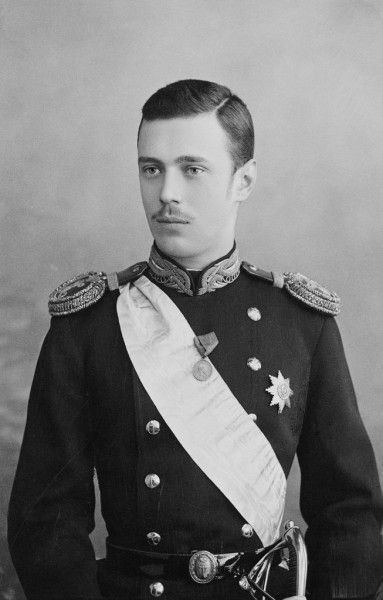 "Grand Duke George Alexandrovich, brother of Nicholas, and the third son of Alexander III and Empress Marie of Russia.  At times he was referred to by his relatives as ""weeping willow"".  George was considered to be the cleverest of the Imperial children. He died suddenly, on 9 August 1899, at the age of 28."