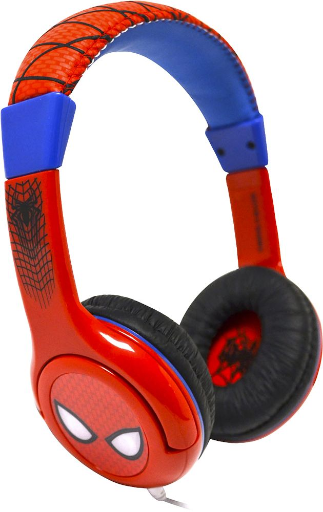 eKids - Ultimate Spider-Man On-Ear Headphones - White/red/blue/black, SM-140.EXV6 / SM-140.FXV7M
