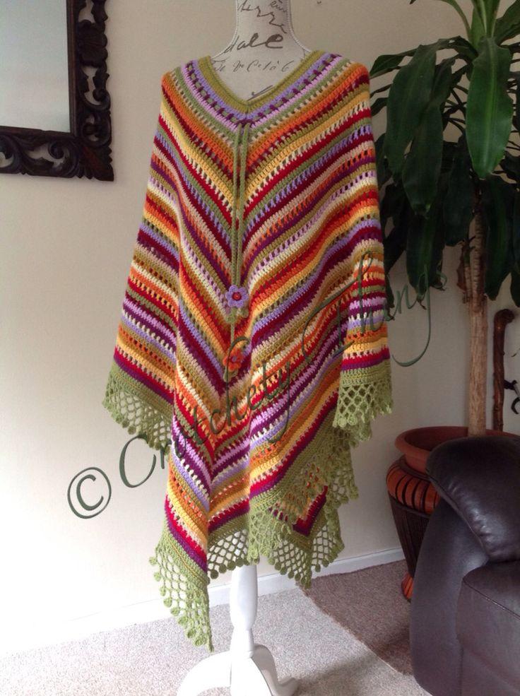 Mejores 97 imágenes de Poncho inspiration for crochet en Pinterest ...