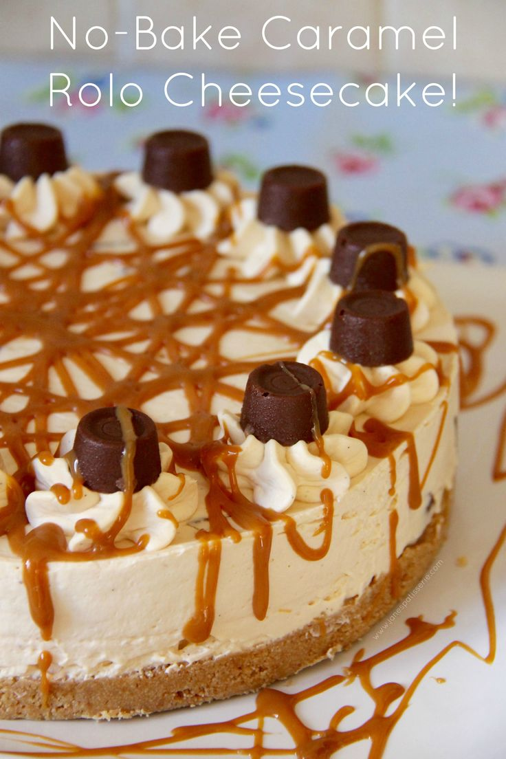 ROLO no-bake cheesecake