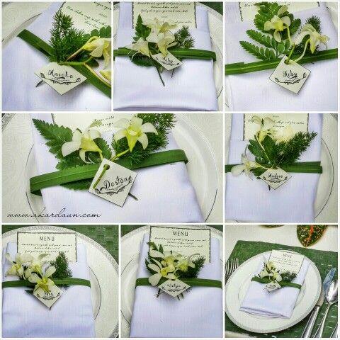 Table Setting Leaf Decoration #table #setting