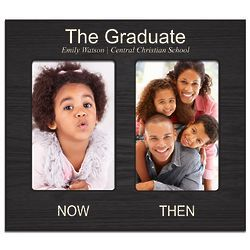 Graduate's Personalized Now and Then Double Photo Frame