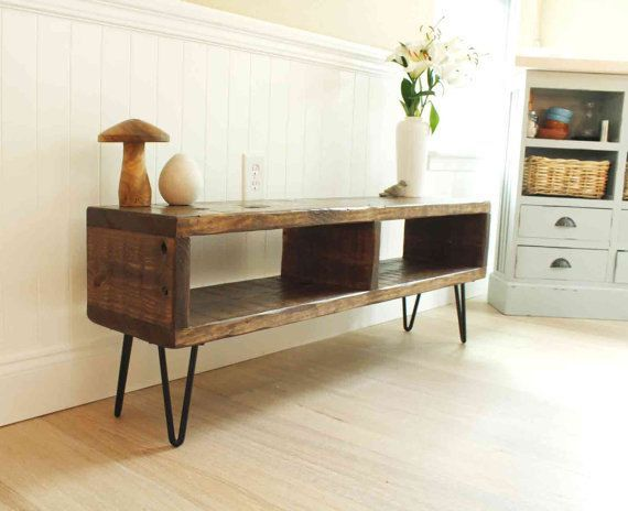 TV entertainment center TV console reclaimed von ReclaimedWoodUSA