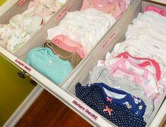 organiser la commode de bébé