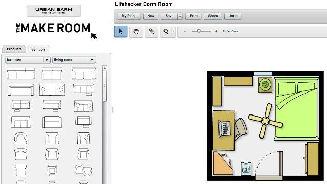 """""""'The Make Room Planner' Webapp Simplifies Room Layout Design"""" -- """"We've featured other free room planners before, but many of those either push you toward pro verions or are now unvailable. This one is backed by a retail store, which means that they encourage you to use their furniture forms but there are also many standard furniture forms to use."""""""