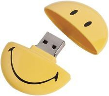 pendrive chiavetta usb a forma di smile smiley introvabile gadget da 2 giga