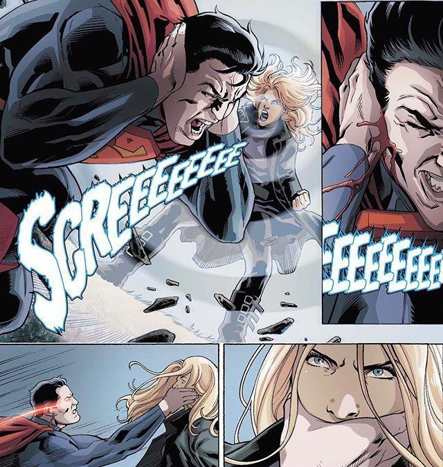 Black Canary Vs Superman - Comic - 'Injustice: Gods Among Us: Year Two' #1 Artwork by Bruno Redondo, Julien Hugonnard-Bert, & David Lopez
