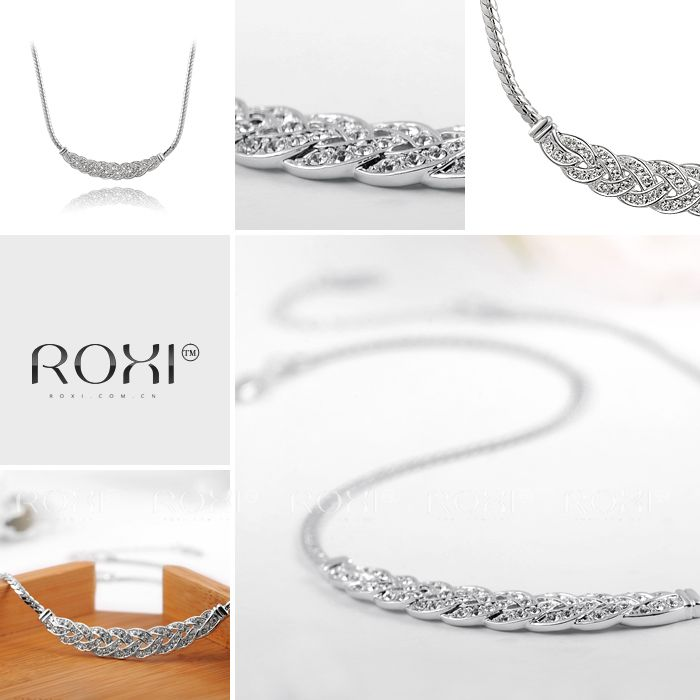 ROXI Christmas gift Genuine Austrian Crystals Classic necklace platinum plated,Gift to girlfriend,100%hand made,2030001630
