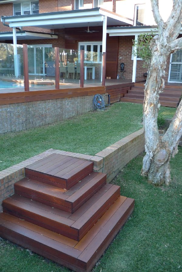 stairs peter o toole forward outdoor garden timber stairs diy split