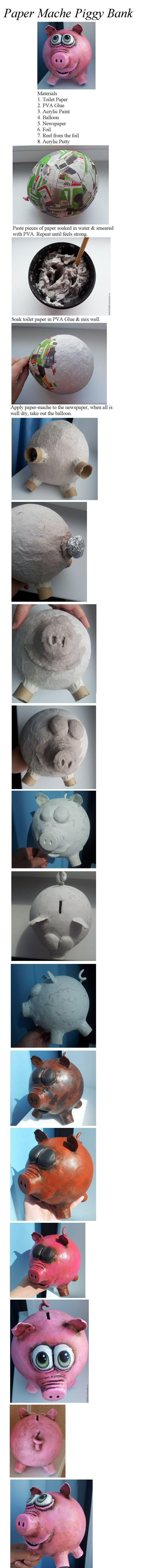 Paper Mache Pig                                                                                                                                                      More