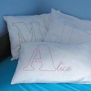 Personalised Name Stitched Pillowcase