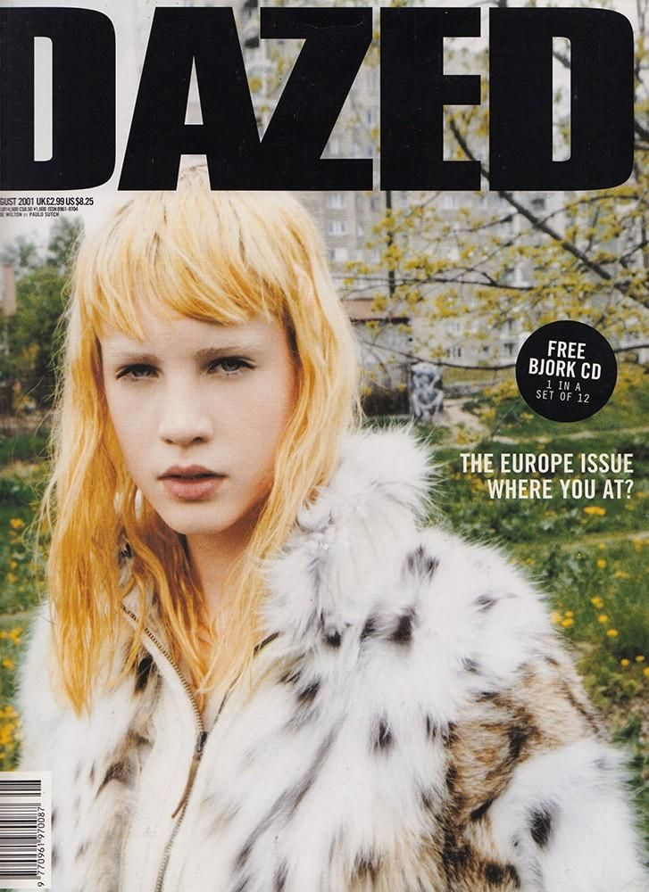 Dazed & Confused August 2001 cover (Dazed & Confused)