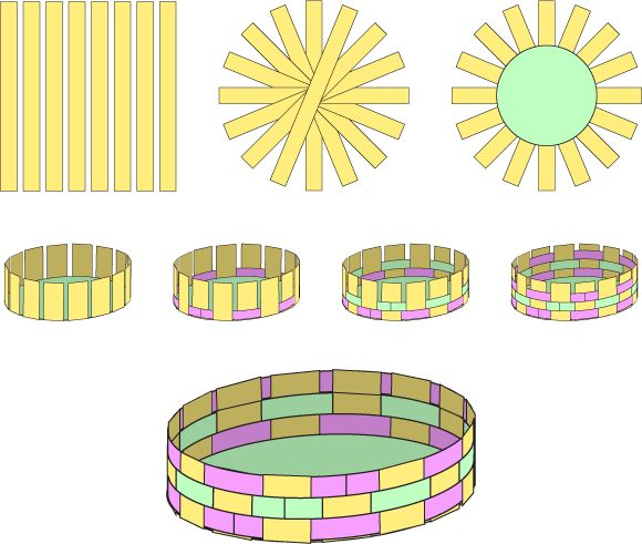 How to make a paper woven Easter Basket