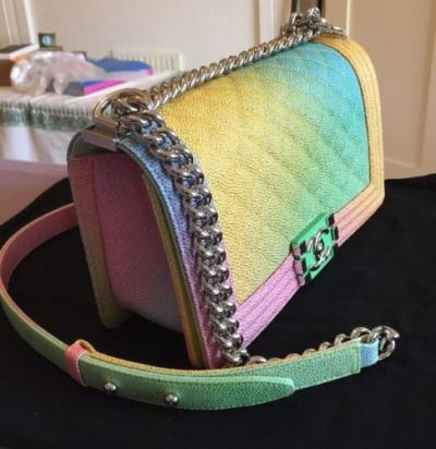 babf39bf08bf 12 best Chanel Rainbow Boy Bag images on Pinterest | Rainbow, Rainbows and  Rainbow print