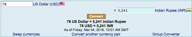 INR Currency Converter