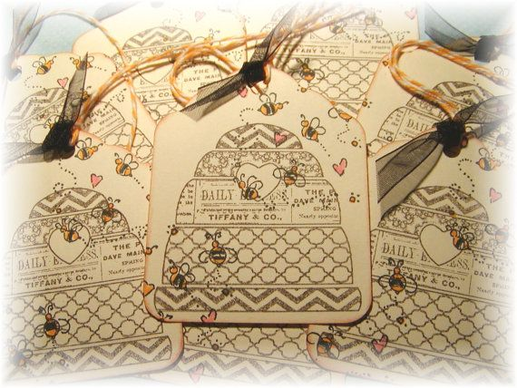 Bee Skep Gift Tags