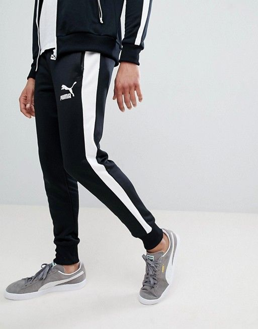 6c81fdef Puma Archive T7 Sweatpants In Black 57265701 | QUẦN | Pants, Black ...