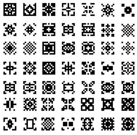 49 Vector Design Patterns 450x444 ストックしておきたい!幾何学模様のピクセル・スォッチパターン129個(商用可・AI) Free Style